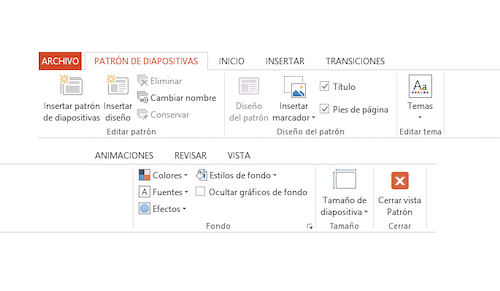 crear y guardar plantilla en power point